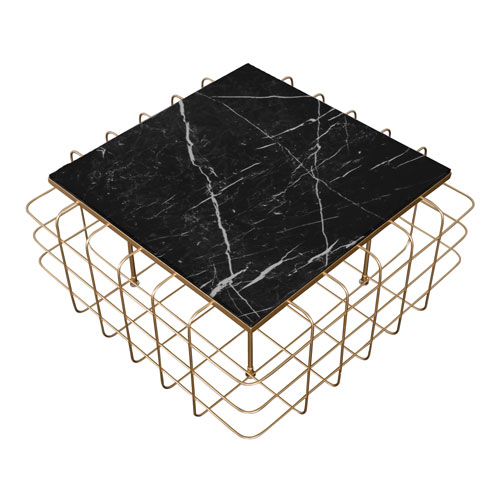 Casa Gold and Black 36-Inch Coffee Table