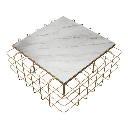Casa Gold and White 36-Inch Coffee Table