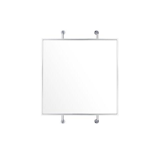 Tycho Polished Nickel Wall Mirror