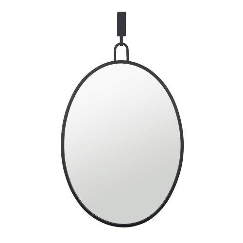 Stopwatch Black Wall Mirror