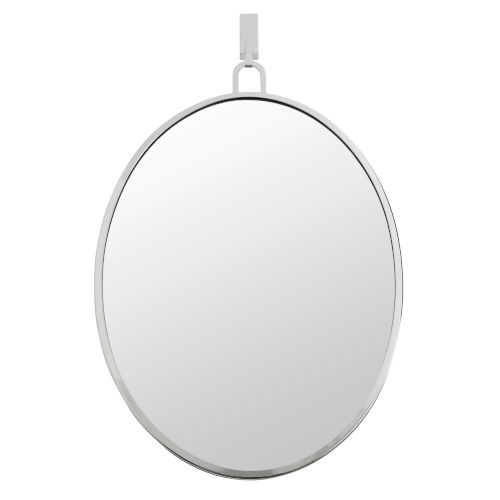 Stopwatch Polished Nickel Wall Mirror