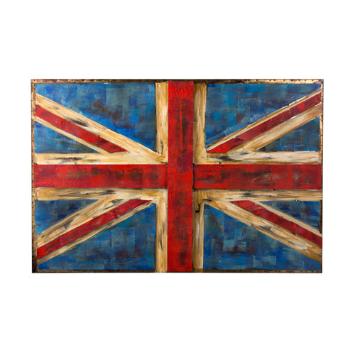 Retrograde UK Flag Wall Art
