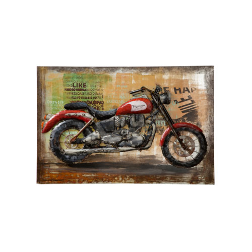 Retrograde Triumph Motorcycle Wall Art