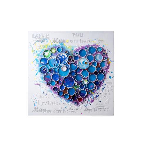 Work Of Heart Blue Wall Art