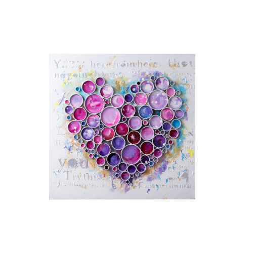 Work Of Heart Fuchsia Wall Art