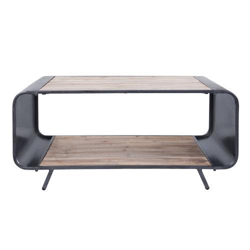 Casa Weathered Steel Coffee Table