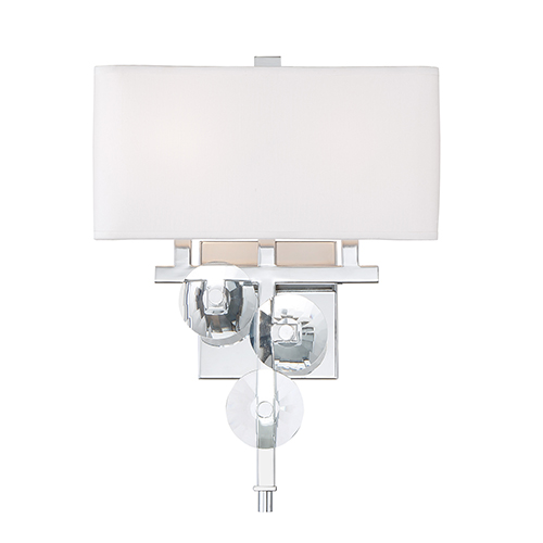 Engeared Chrome Two-Light Wall Sconce