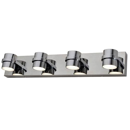 Twocan Polished Chrome Eight-Light LED Bath Sconce