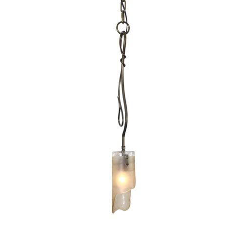 Varaluz Soho Statue Garden Single Light Mini Pendant w/ Brown Tint Ice Recycled Glass