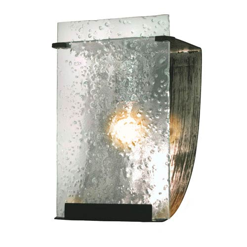 Rain One-Light Bath with Rain Glass