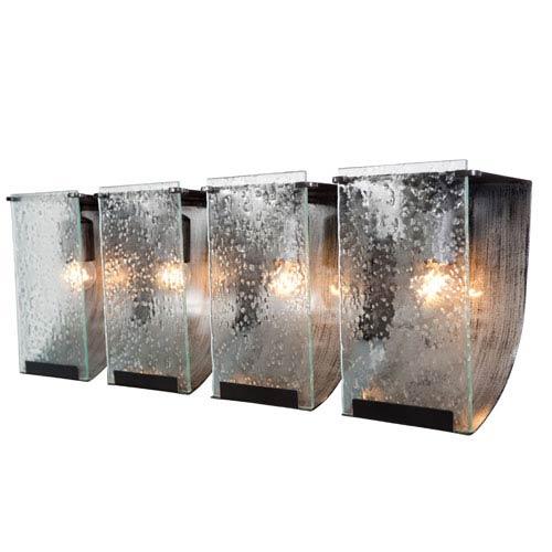 Rain Four-Light Bath with Rain Glass