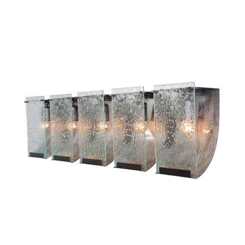 Varaluz Rain Five-Light Bath Fixture with Seedy Glass