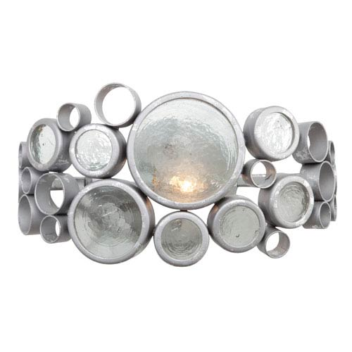 Fascination Nevada Recycled Steel and Glass One-Light Bath Fixture