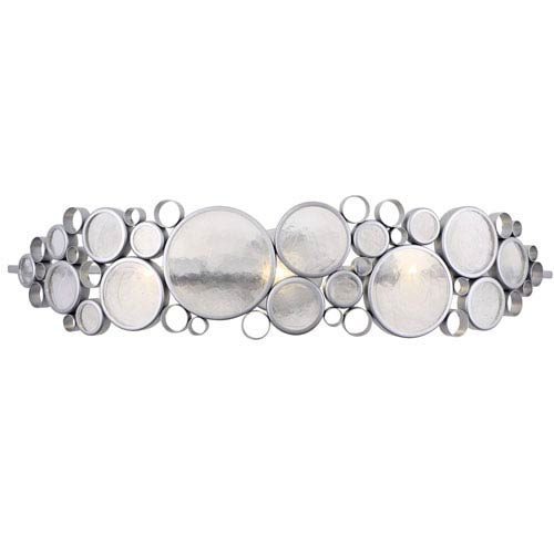 Fascination Metallic Silver 33-Inch Three-Light Bath Sconce