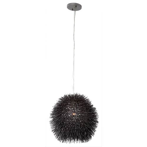 Urchin One-Light Mini Pendant in Black