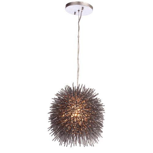 Varaluz Urchin Chrome One-Light Mini Pendant