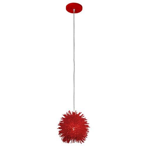 Urchin Super Red One Light Uber Mini Pendant