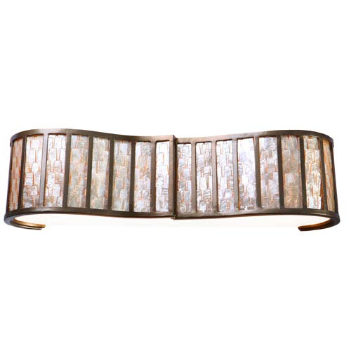 Affinity New Bronze Sustainable Shell Three-Light Bath Fixture