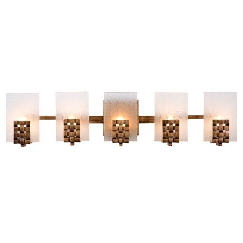 Varaluz Dreamweaver Five-Light Bath Fixture with Hand Woven Recycled Steel