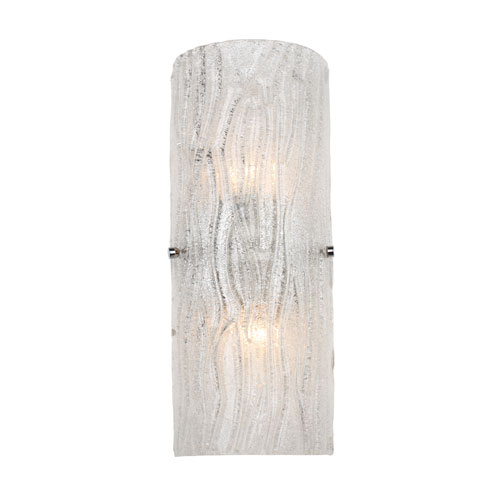 Varaluz Brilliance Two Light Chrome Finish With Bright Ice Gl Wall Sconce