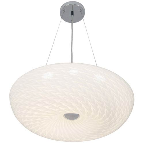 Swirled Chrome One-Light LED Large Pendant