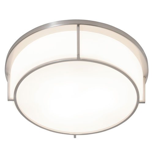 Smart Satin Nickel 17-Inch LED Flush Mount
