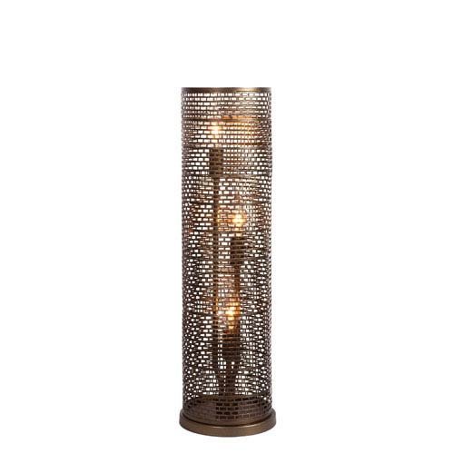 Varaluz Lit-Mesh Test New Bronze Three Light Hand Forged Recycled Steel Table Lamp