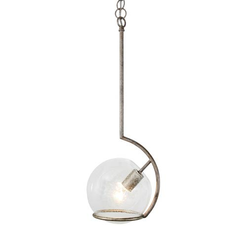 Varaluz Watson Silver Age One Light Mini Pendant