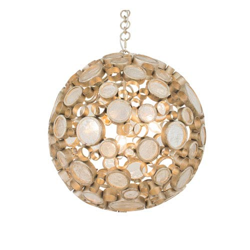 Fascination Zen Gold Round Three-Light Pendant
