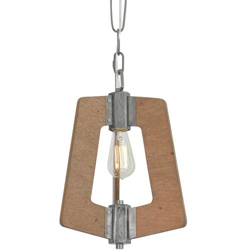 Lofty Wheat and Steel 11-Inch One-Light Pendant