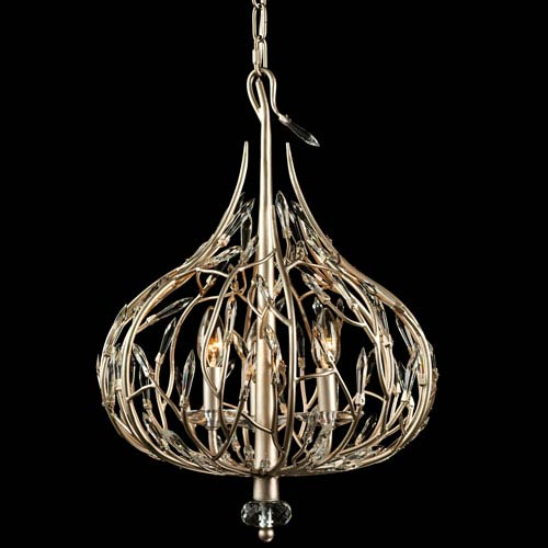 Bask Gold Dust 16-Inch Three-Light Pendant