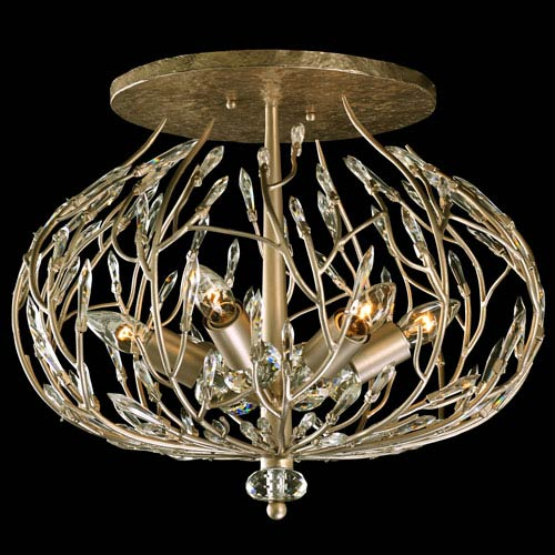 Bask Gold Dust 19.-Inch Six-Light Flush Mount