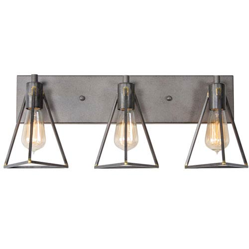 Trini Gunsmoke Three Light Vanity