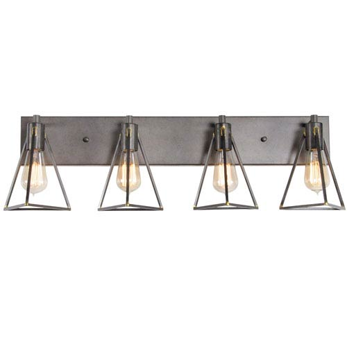 Trini Gunsmoke Four Light Vanity
