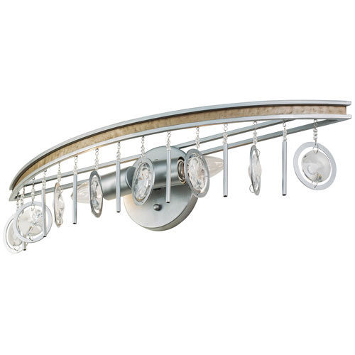 Charmed Silver with Champagne Mist Two-Light Bath Vanity