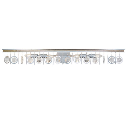 Charmed Silver with Champagne Mist Four-Light Bath Vanity