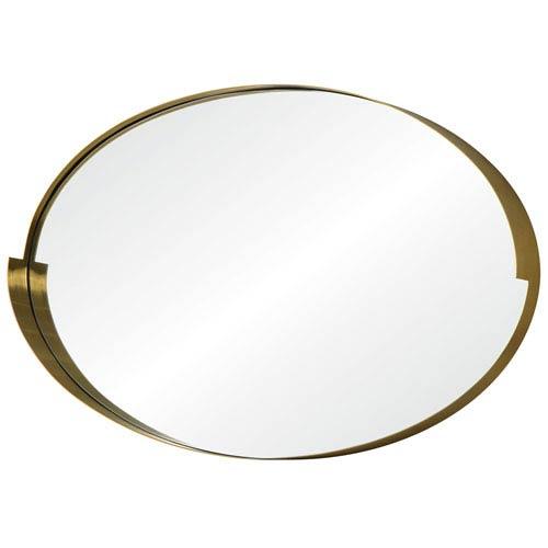Echo Gold Oval Mirror