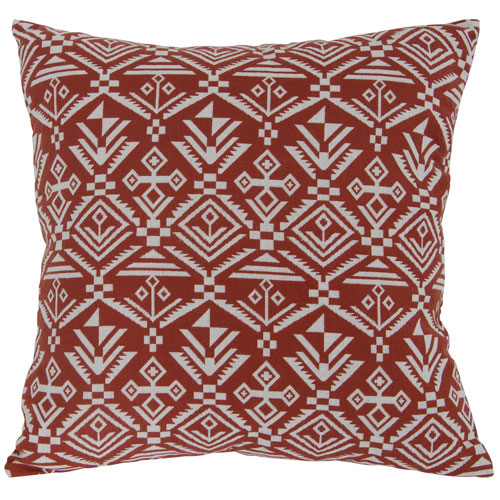 Varaluz Casa Red 18-Inch Tribal Lumbar Throw Pillow