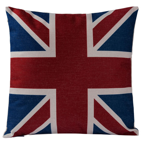 Casa Red, White, and Blue Union Jack Throw Pillow