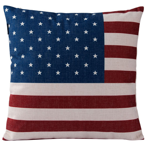 Casa Red, White, and Blue American Flag Square Throw Pillow