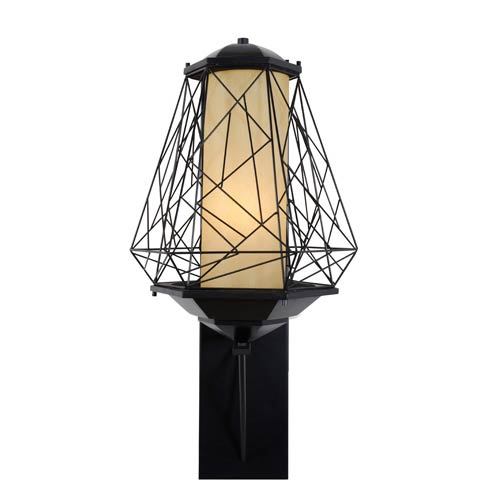 Varaluz Wright Stuff Black One Light Large Outdoor Wall Sconce