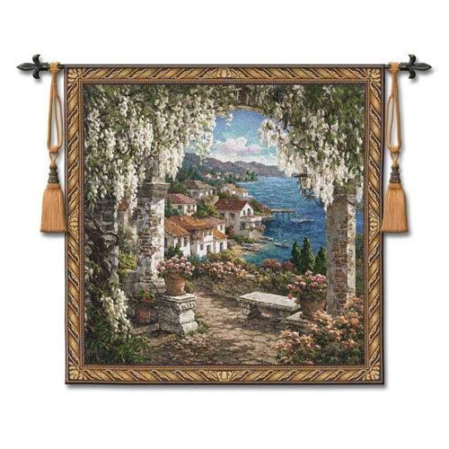 Seaview Hideaway Woven Wall Tapestry