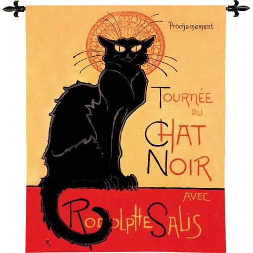 Tournee Chat Noir Tapestry Wall Hanging