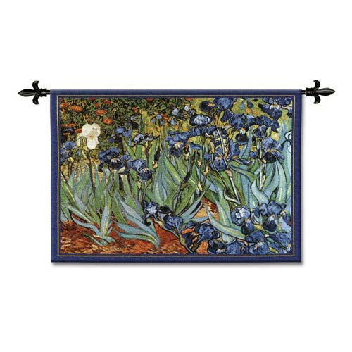 Van Goghs Irises Woven Wall Tapestry