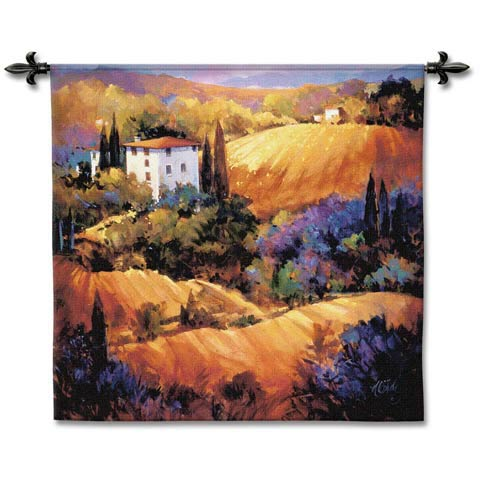 Evening Glow Woven Wall Tapestry