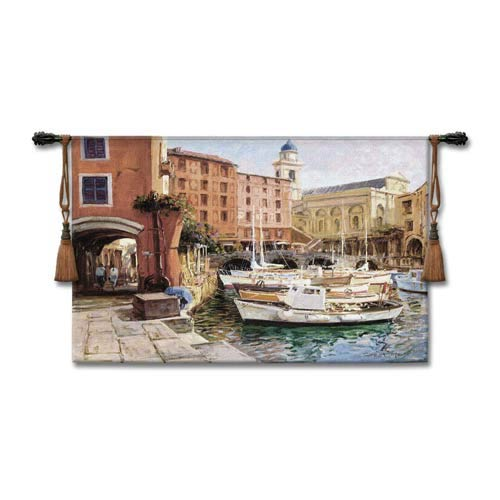 Mediterranean Colors Woven Wall Tapestry