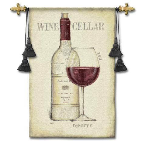 Wine Cellar Woven Wall Tapestry