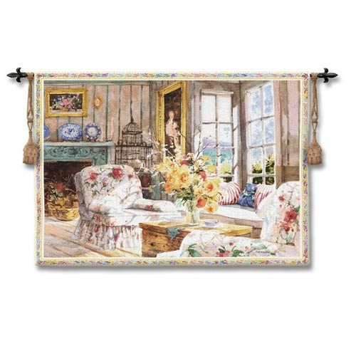 Sun Filled Chintz Woven Wall Tapestry