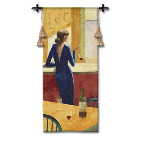 Le Cafe Woven Wall Tapestry