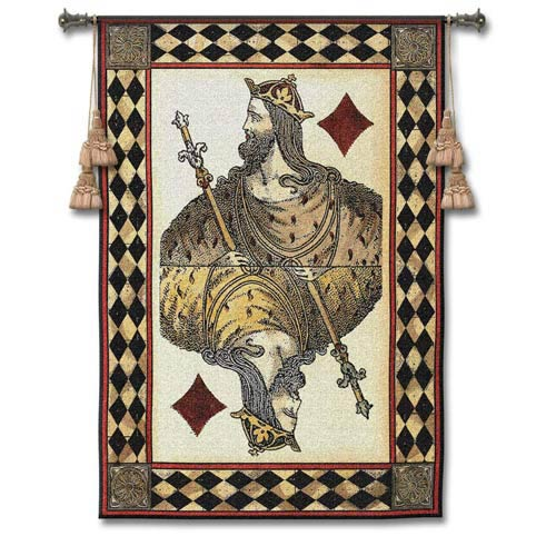 King Diamond Woven Wall Tapestry